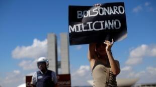 Estudantes protestam em Brasília contra cortes de verbas para a Educação, em 15 de maio de 2019.