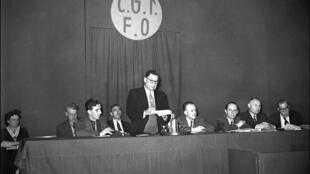 Comité national CGT-FO à Paris, en septembre 1948.