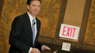 Giám đốc FBI bị cách chức James Comey. Ảnh chụp 26/04/2016, lúc ông đến phát biểu tại Georgetown University, Washington D.C.