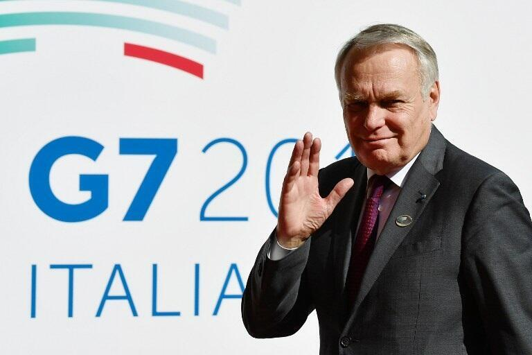 French Foreign Minister Jean-Marc Ayrault arrives for a meeting of Foreign Affairs Ministers from the Group of Seven (G7) industrialised countries on April 10, 2017 in Lucca, Italy.