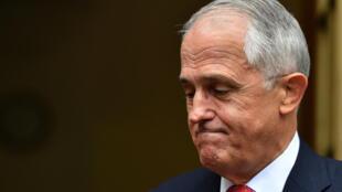 Le Premier ministre Malcolm Turnbull lors d'une conférence de presse au Parlement australien, à Canberra, le 21 août 2018.