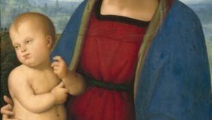 """""""La Virgen y el niño"""", El Perugino, hacia 1500."""