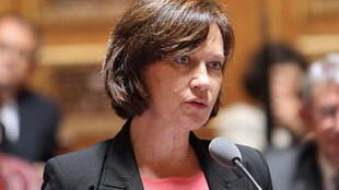 Laurence Rossignol, sénatrice de l'Oise, ministre des Familles, de l'Enfance et des Droits des femmes, dans l'hémicycle.