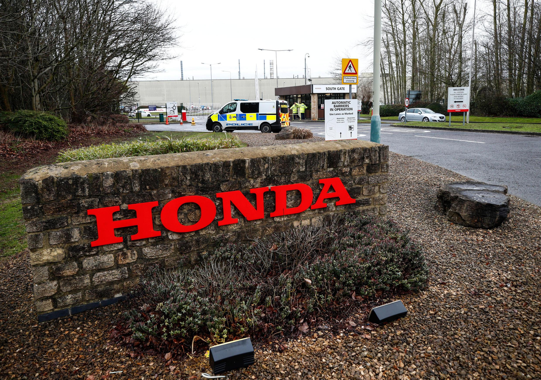 Nhà máy của Honda ở Swindon, Anh Quốc. Ảnh 18/02/2019.