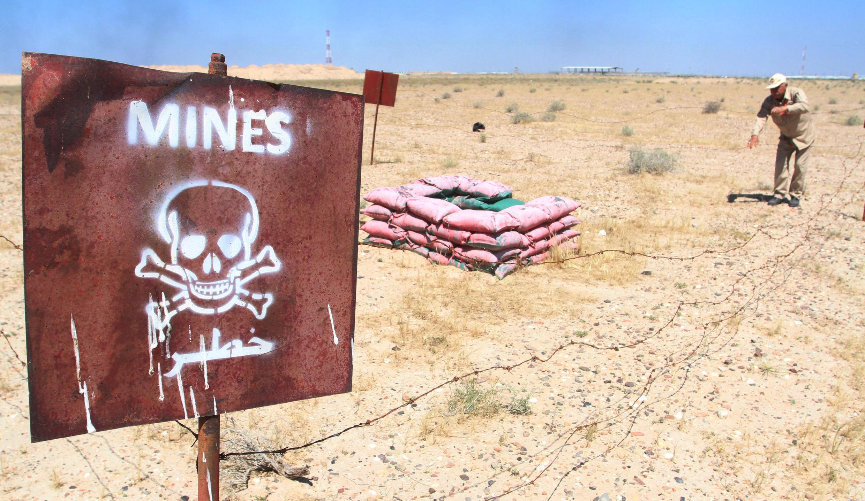Zone de mines dans la province irakienne de Bassora.