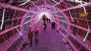 Khu trung tâm Matxcơva trang hoàng lộng lẫy để đón chào năm mới