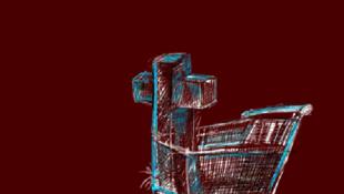 """Portada del libro """"Contrapublicidad, consume hasta morir"""", recopilación de contranuncios del colectivo Consume hasta Morir, España."""