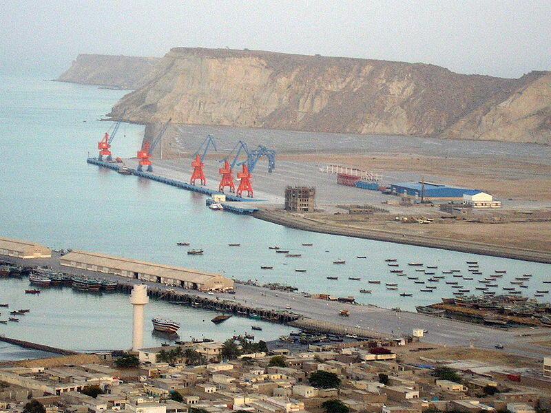 Cảng chiến lược Gwadar nằm trên con đường hành lang kinh tế Pakistan - Trung Quốc.