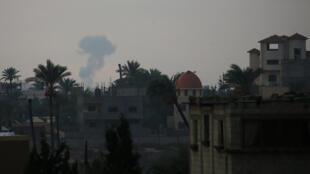 ارتش اسرائیل بامداد روز چهارشنبه ١٧ اکتبر/٢۵ مهر، در پاسخ به شلیک راکت از سوی فلسطین، نوار غزه را مورد حملات هوایی و بمباران قرار داد.
