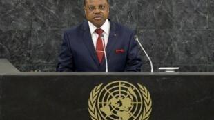 Nicolas Tiangaye, Premier ministre centrafricain à la tribune de l'ONU, le 26 septembre 2013.