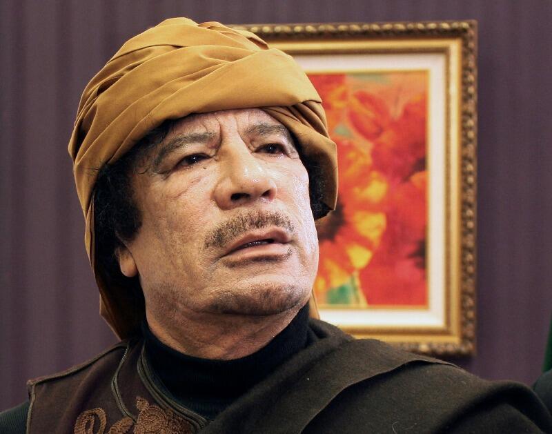 Kiongozi wa Libya Muammar Gaddafi anayeshinikizwa kuondoka madarakani