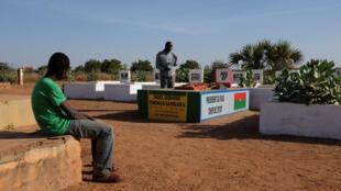 La tombe de Thomas Sankara au cimetière de Dagnoen à Ouagadougou.