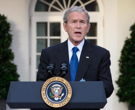 George Bush, le 14 octobre 2008.