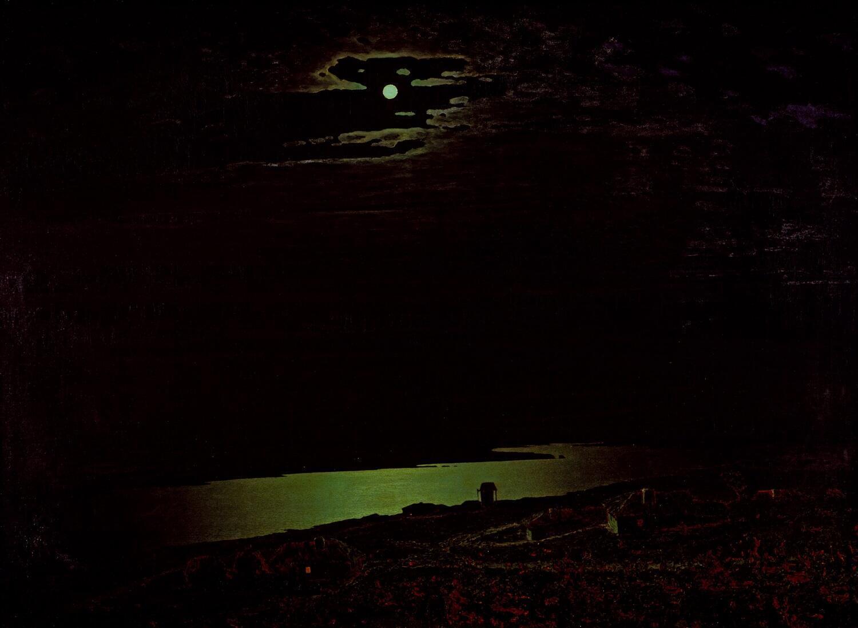 Архип Куинджи. «Лунная ночь на Днепре». 1880