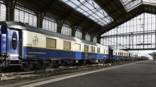 Vue de la voiture Train Bleu.