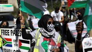 manifestation afrique du sud pro palestine sandton
