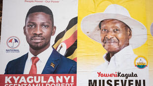 Election posters in Uganda