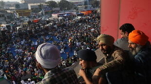 Inde manifestation agriculteurs fermiers paysans grève
