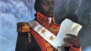 Portrait du général Toussaint Louverture, descendant d'esclaves noirs, daté du XIXe siècle, auteur anonyme.