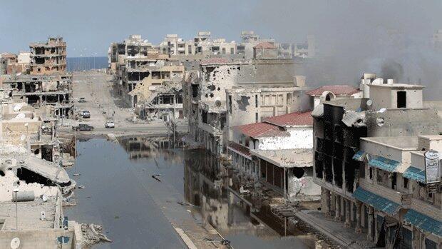 The city of Sirte in Libya.