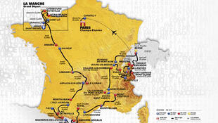 Recorrido del Tour de Francia 2016.