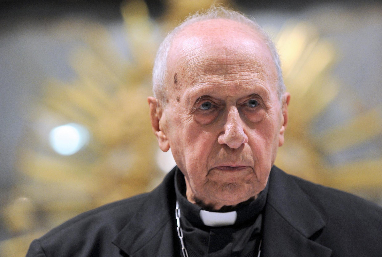 Hồng y Roger Etchegaray tại một hội nghị tôn giáo ở Espelette, miền tây nam nước Pháp. (Ảnh chụp ngày 26/08/2014)