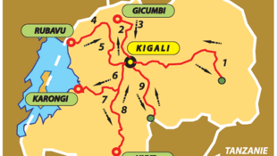 Le parcours du Tour du Rwanda 2010