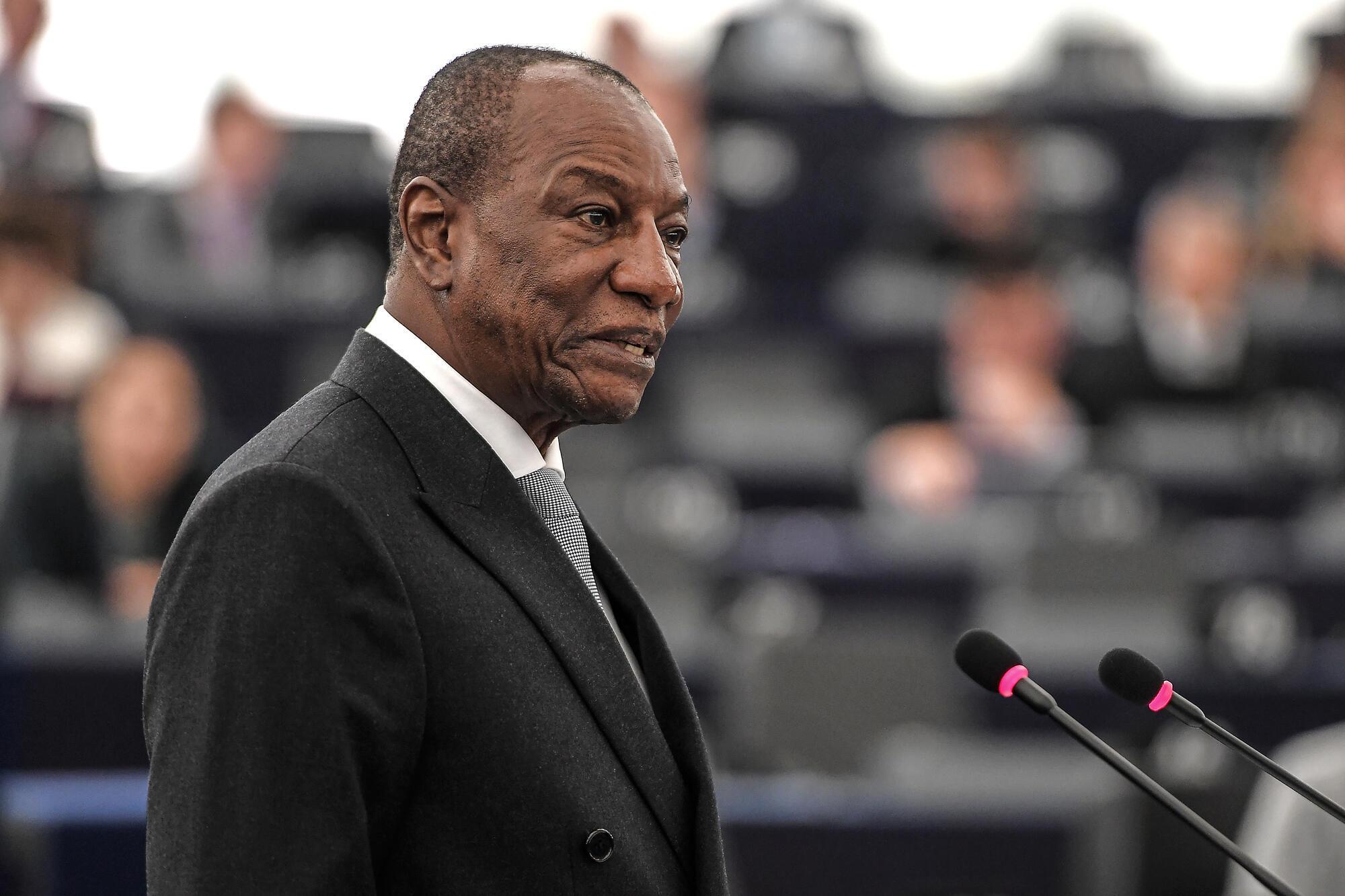 Le président guinéen, Alpha Condé.