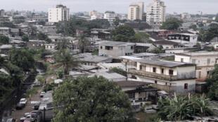Vue de Douala, au Cameroun.