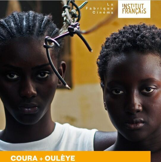 Poster for film project Coura+Oulèye, by Iman Djionne from Senegal, participating in La Fabrique Cinema, a programme for young filmmakers organised by the Institut français, 2020