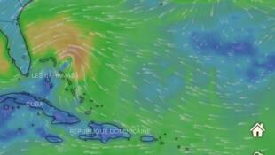 La tormenta tropical Humberto se acerca al archipiélago de Bahamas. Sábado 14 de septiembre de 2019.
