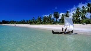 Plage d'Andilana, à Nosy Be, Madagascar.