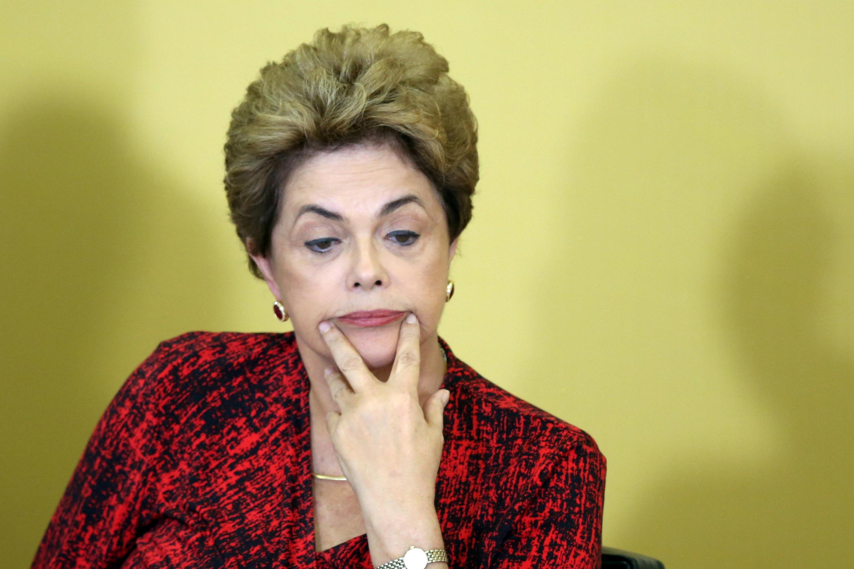 Dilma Rousseff, elle-même, a admis que la situation autour de sa procédure de destitution était très confuse. A Brasilia, le 9 mai 2016.