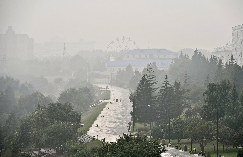 Krasnoyarsk Wildfires smoke