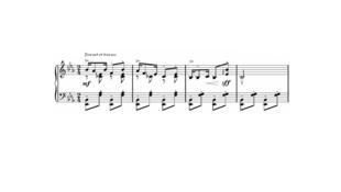 """Fragmento de """"Golliwogg's Cakewalk"""", última pieza de la suite."""