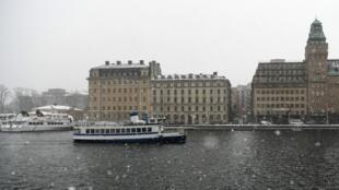 Un bateau à Stockholm.
