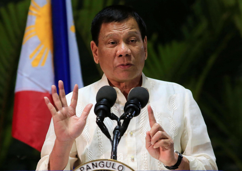 菲律賓總統杜特特2017年3月23日馬尼拉