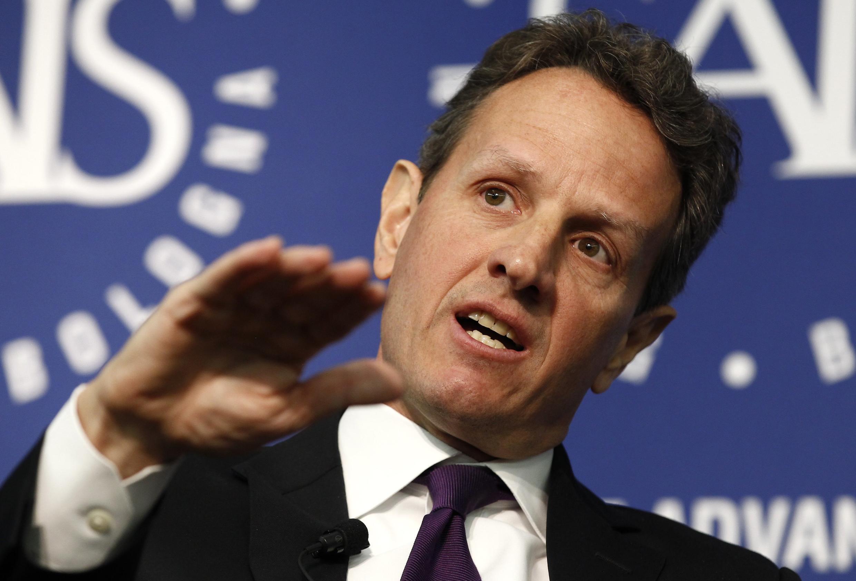 O secretário do Tesouro americano, Timothy Geithner, em discurso na Escola de Estudos Internacionais Avançados (SAIS) da Universidade Johns Hopkins.