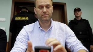 Алексей Навальный в суде, 16 июня 2017 года, Москва.