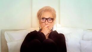 L'affiche (détail) de «La grande traversée», de Steven Soderbergh, avec Meryl Streep, sur Canal+. © Canal+