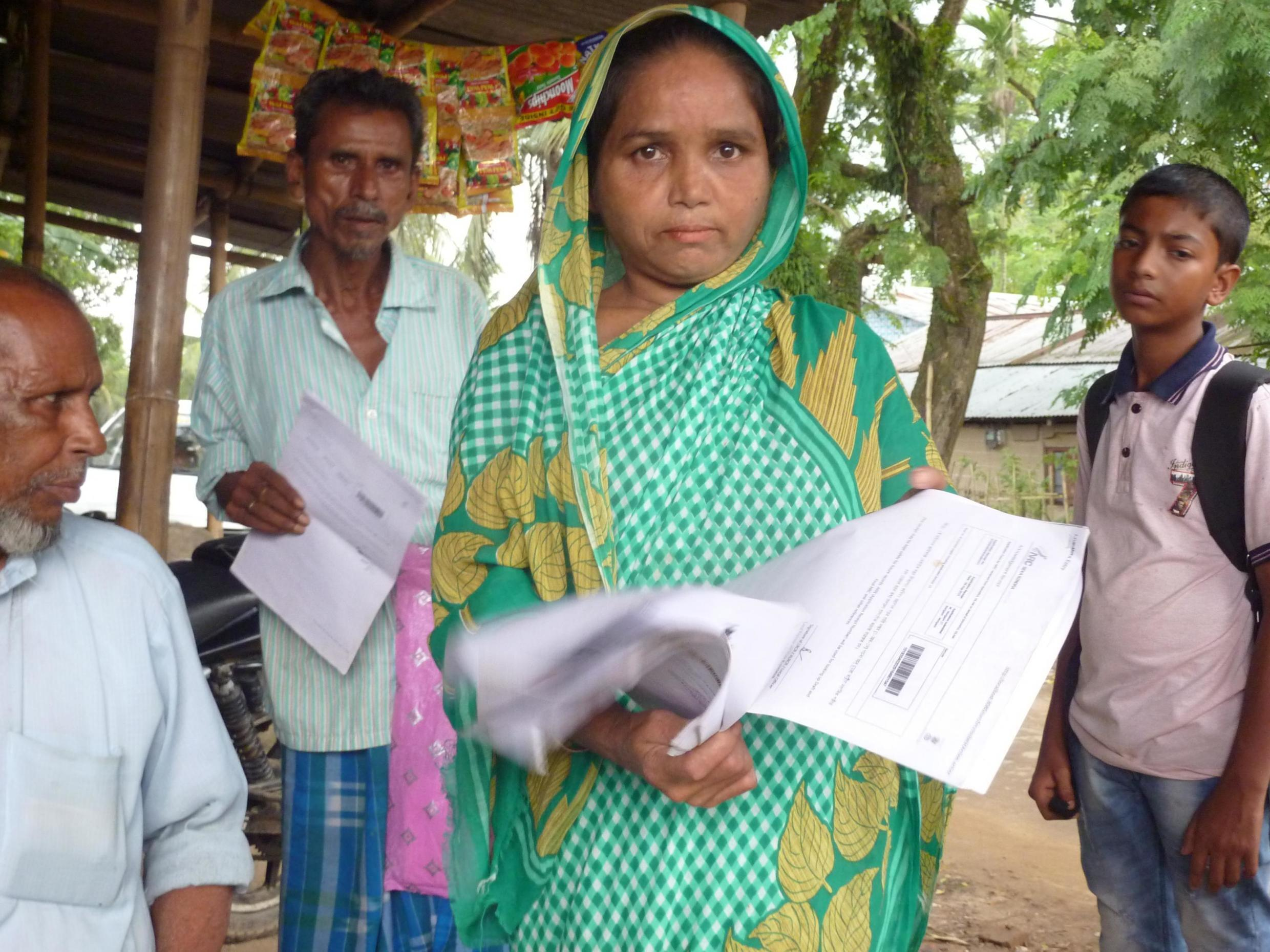 Villagers from Maloibari in Assam who have been left out of the national citizens' register.