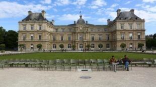 Le Sénat, situé au Jardin du Luxembourg, à Paris.