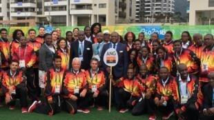 A comitiva angolana no Rio2016
