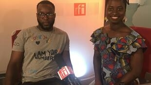 Ivanildo da Costa e Margarida Urolis, da Comissão organizadora da Miss Guiné-Bissau França 2018.