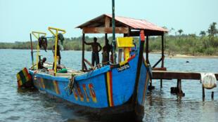 A fishing boat in Liberia