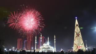 Celebraciones en Grosny,  Rusia