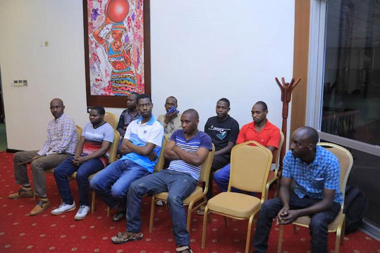 Raia tisa wa Rwanda waliokuwa wakishikiliwa nchini Uganda baada ya kuachiliwa huru