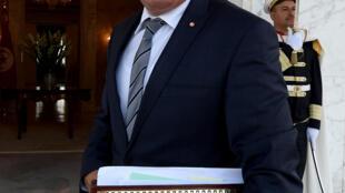 Ferhat Horchani, ministre tunisien de la Défense, à Tunis, le 31 août 2016.