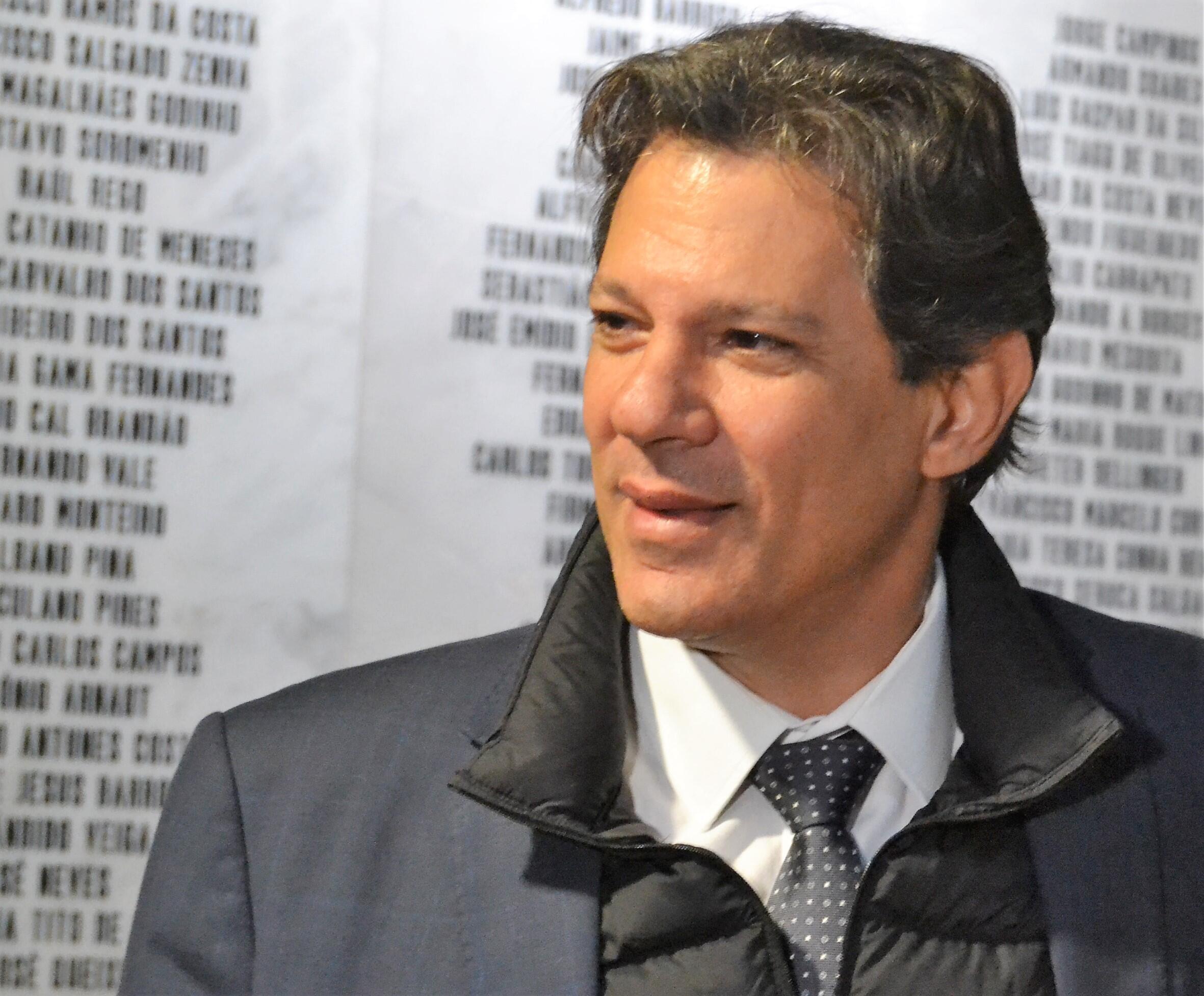 Fernando Haddad, candidato derrotado na segunda volta das presidenciais de 2018 no Brasil