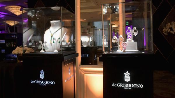 Des diamants De Grisogono dans une vitrine à Berverly Hills, aux États-Unis, en février 2018.